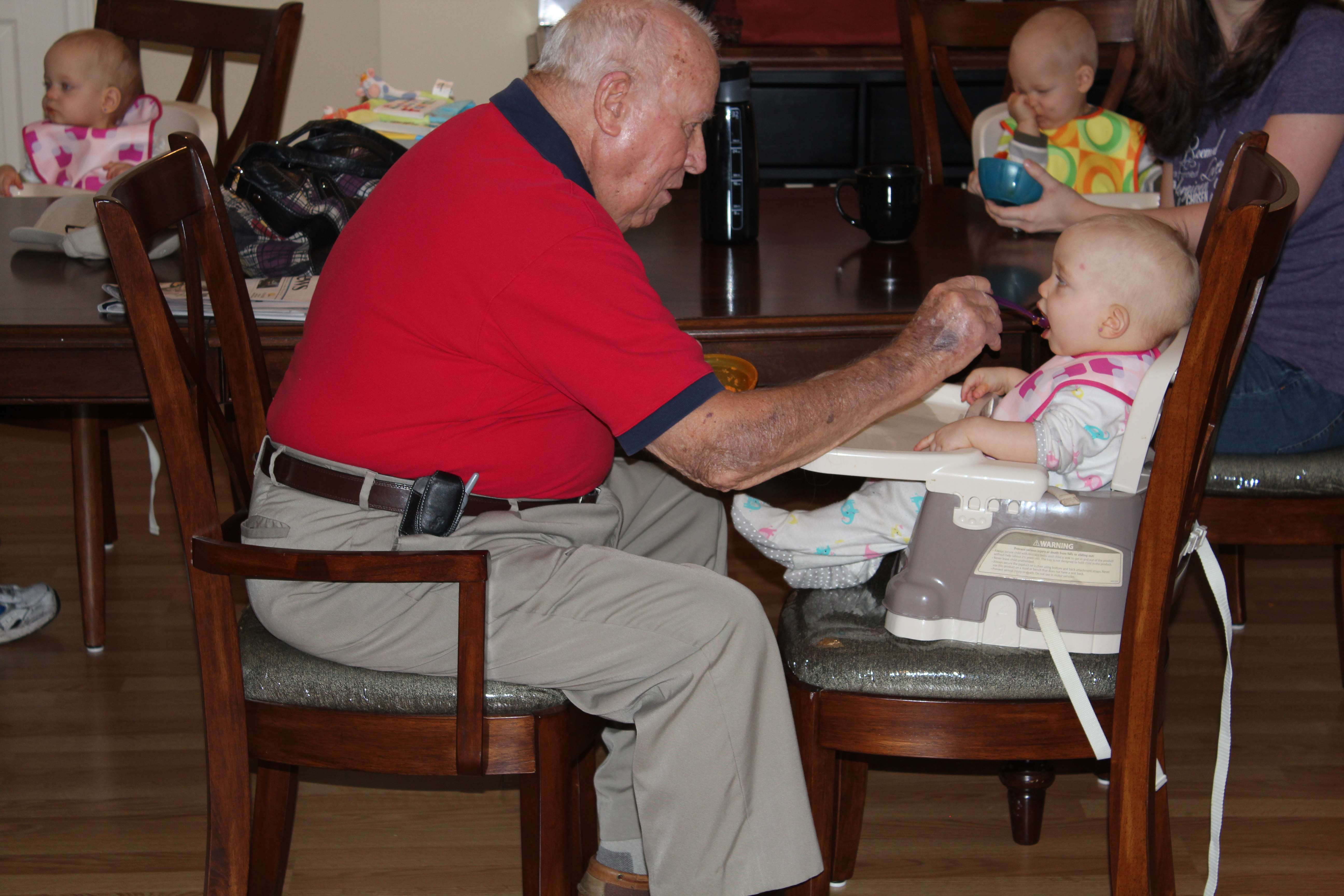 Feeding Makenna - he did such a great job! =)