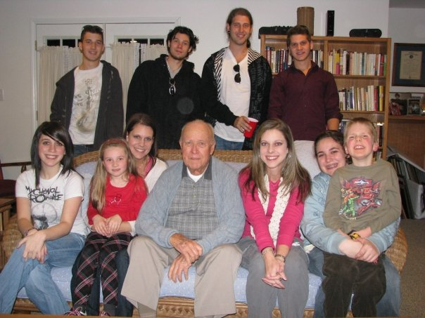 I think this was the last picture of all of Grandpa with his ALL of his grandchildren. Thanksgiving 2008
