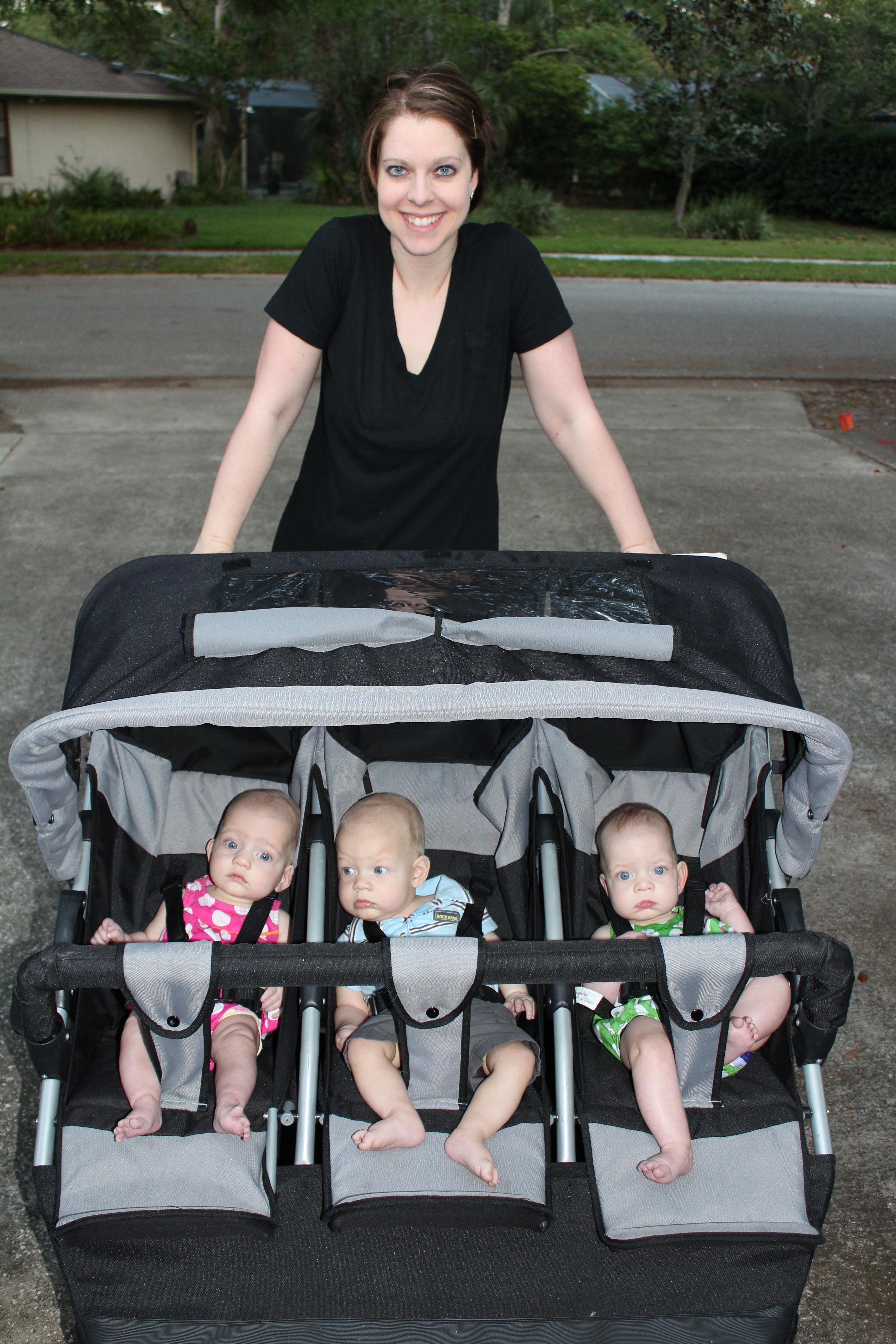 Strollers Growing Up Triplets