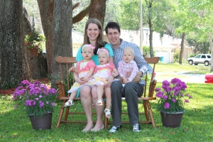 The babies at Easter - 18 months old!