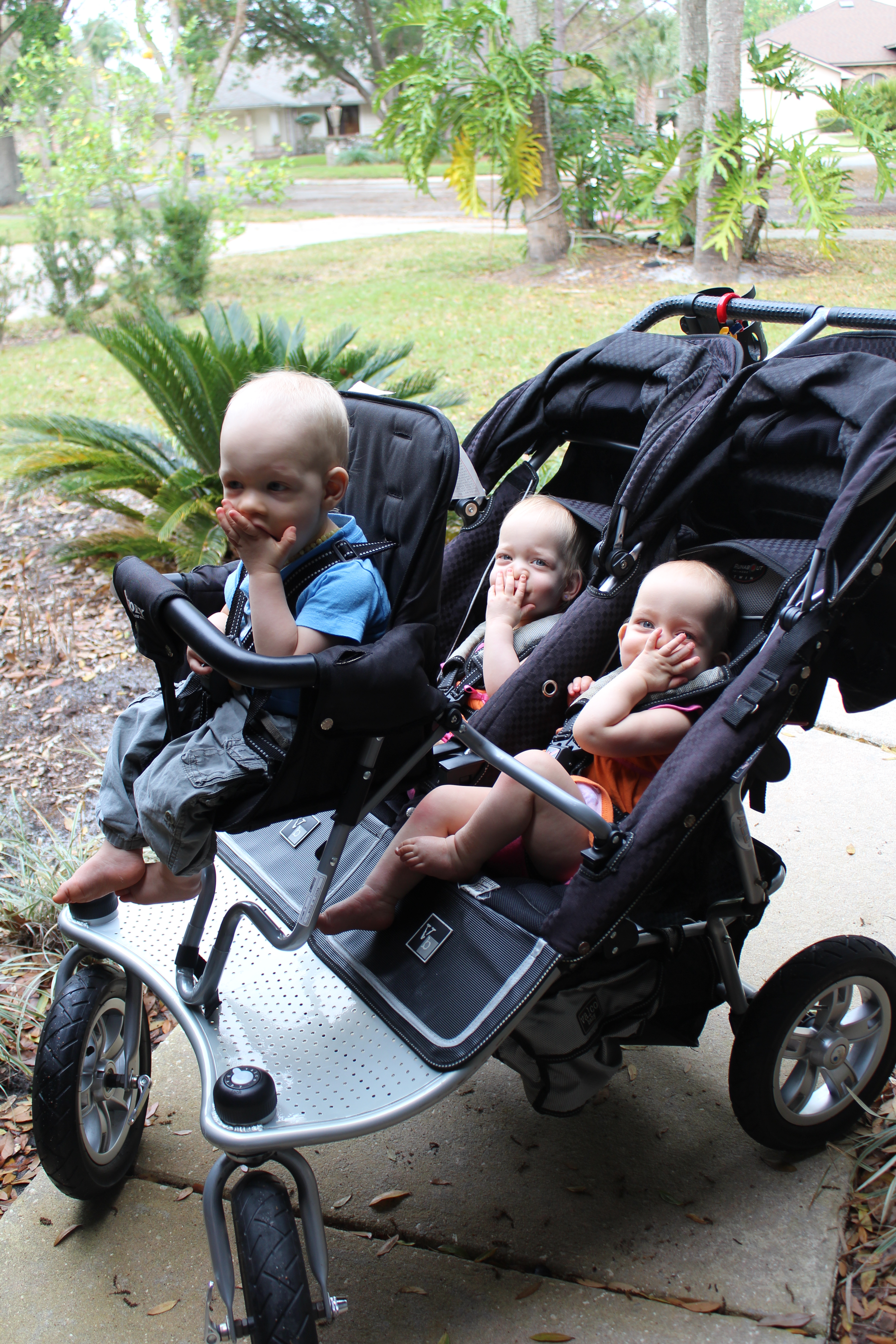 Strollers Growing Up Triplets