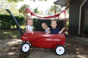 Our New Wheels #wagon, #radioflyer, #triplets http://growinguptriplets.com/2013/03/21/our-new-wheels/