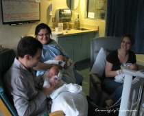 One of the nurses feeding one of the babies while David and I fed two others - it took all of us!