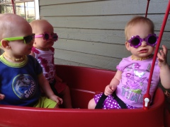Cruzin in the RadioFlyer with our shadez on!